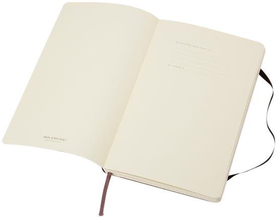 Anteckningsbok Moleskine Classic PK softcover - rutat med tryck Svart