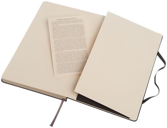 Moleskine Classic L inbunden anteckningsbok – prickad med tryck Svart