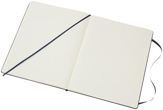 Moleskine Classic XL av inbunden anteckningsbok – prickad med tryck Safir