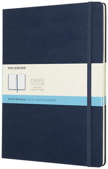 Classic XL av inbunden anteckningsbok – prickad med tryck Safir