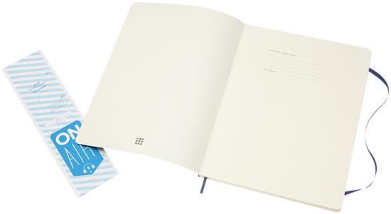 MoleskineClassic XL av anteckningsbok med mjukt omslag – prickad med tryck Safir