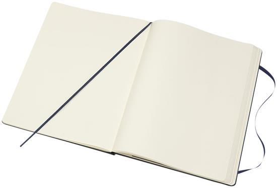 Moleskine Classic XL av inbunden anteckningsbok – blankt papper med tryck Safir