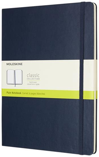 Classic XL av inbunden anteckningsbok – blankt papper med tryck Safir