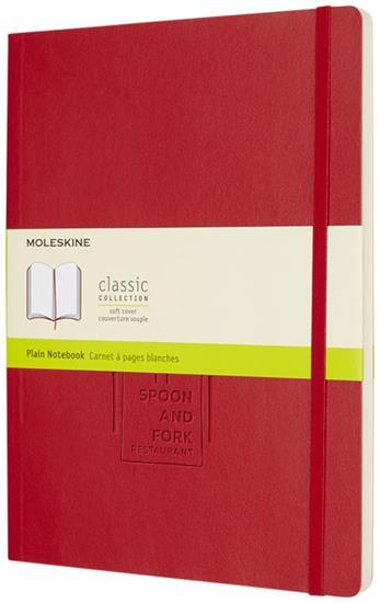Classic XL av anteckningsbok med mjukt omslag – blankt papper med tryck Röd