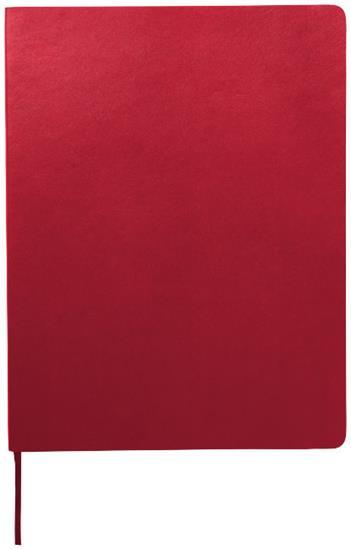 Moleskine Classic XL av anteckningsbok med mjukt omslag – blankt papper med tryck Röd