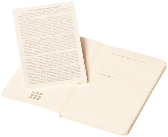 Moleskine Volant Journal XS – blankt papper med tryck Svart
