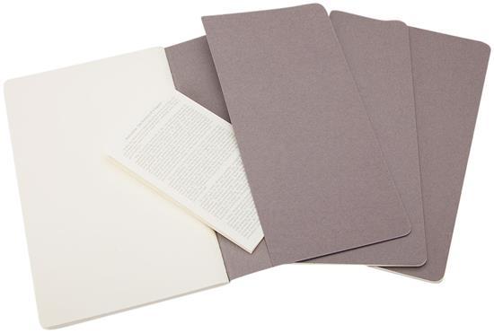 Moleskine Cahier Journal L – blankt papper med tryck Grå