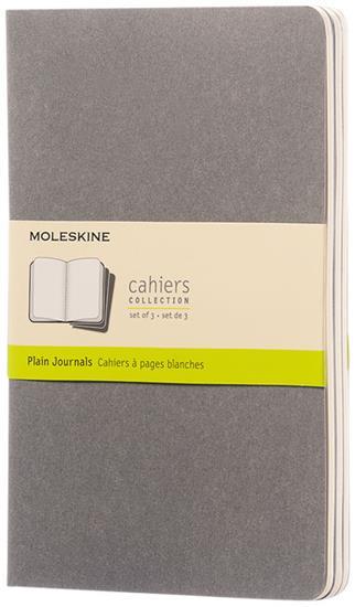 Cahier dagbok L – blankt papper med tryck Grå