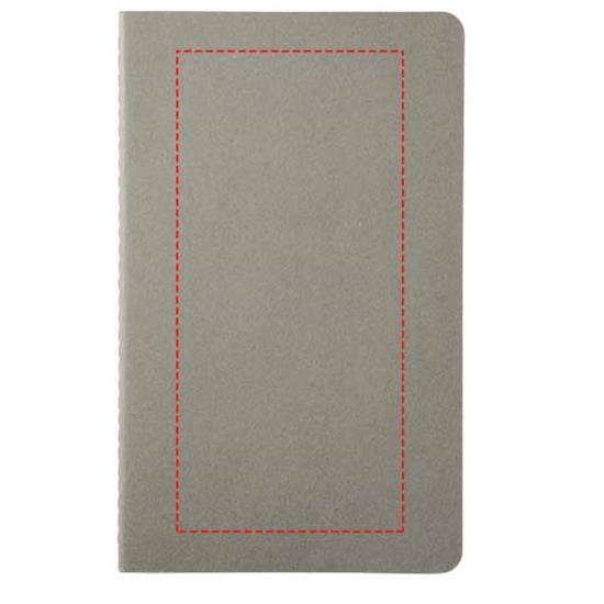 Moleskine Cahier Journal L – rutat med tryck Grå