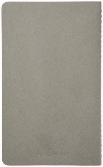 Cahier dagbok L – rutat med tryck Grå