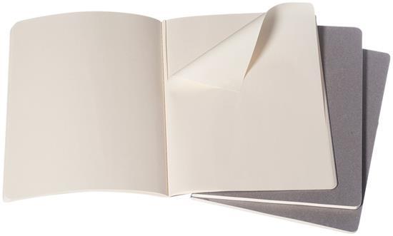 Moleskine Cahier Journal XL – blankt papper med tryck Grå