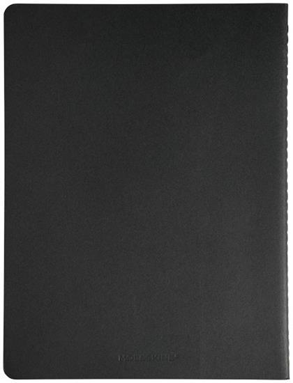 Moleskine Cahier Journal XL – rutat med tryck Svart