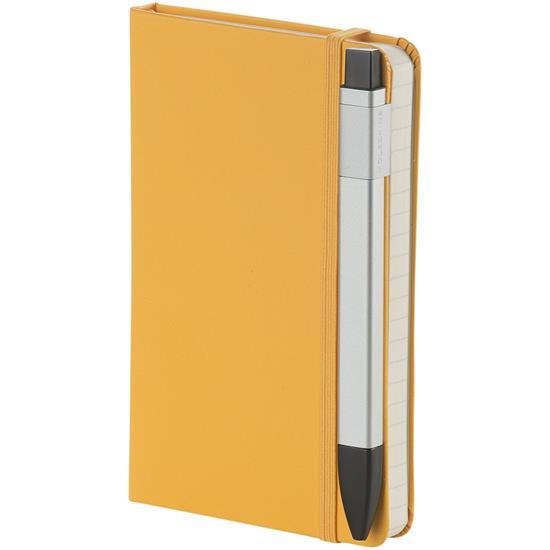 Klickpenna lättmetall Moleskine 1,0 med tryck Silver