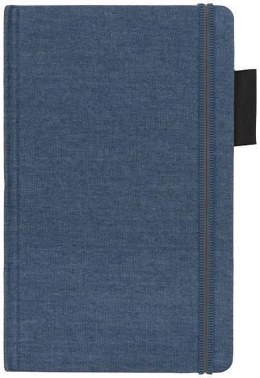 Anteckningsbok Jeans A5 med tryck Ljusblå