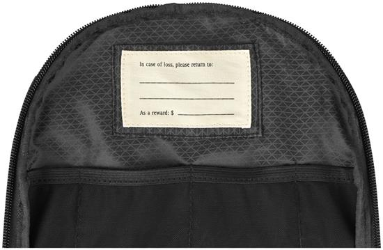 Affärsryggsäck Moleskine med tryck Svart