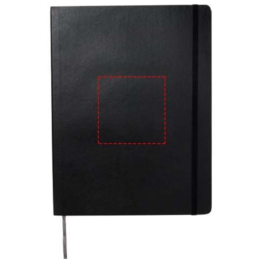 Moleskine Pro anteckningsbok XL med mjukt omslag med tryck Svart