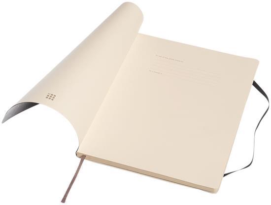 Anteckningsbok med mjukt omslag med tryck Svart