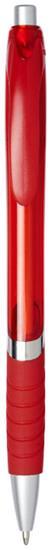 Penna Turbo genomskinlig, svart bläck med tryck Röd