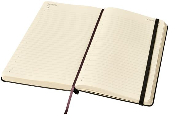 Classic Expanded anteckningsbok L A5– linjerad med tryck Svart