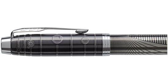 Rollerballpenna Parker IM Luxe  - specialutgåva med tryck Ljusgrå