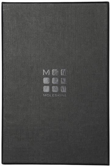 Anteckningsbok Moleskine Classic L i läder med tryck Svart