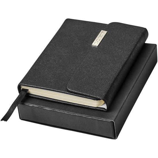 Anteckningsbok Sonata Pocket med tryck Svart