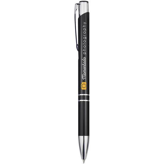 Penna Moneta aluminium, svart bläck med tryck Svart