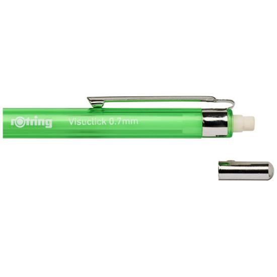 Stiftpenna Visuclick 0,7 mm med tryck Grön
