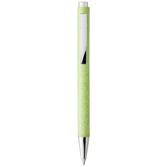 Penna Tual halm, blått bläck med tryck Grön