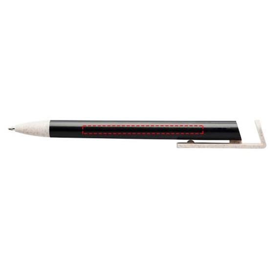 Penna Medan i halm, svart bläck med tryck Svart