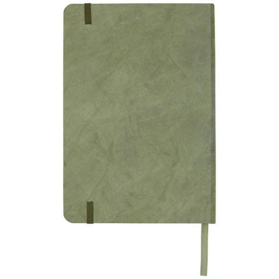 Anteckningsbok Breccia A5 mineralpapper med tryck Grön