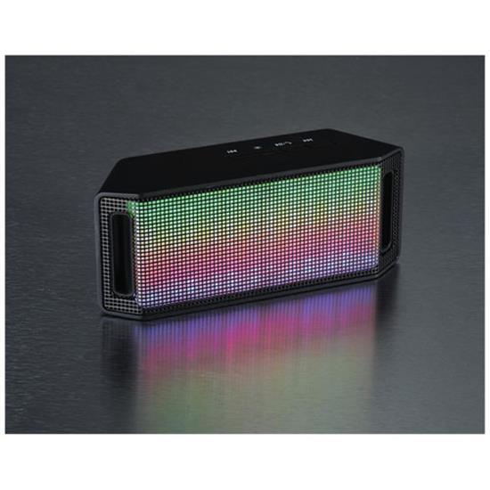 Jazzy Light Up Bluetooth® högtalare med tryck Svart