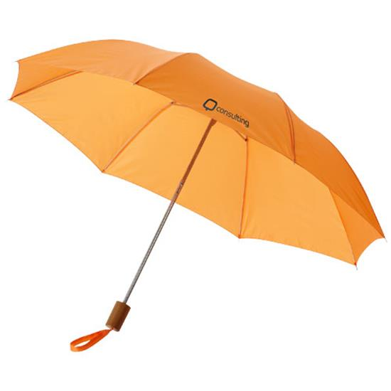 "20"" kompaktparaply Oho med tryck Orange"