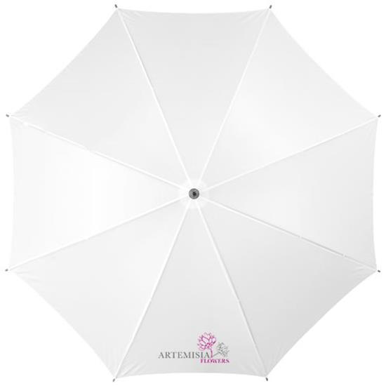 """23"""" klassiskt paraply Jova med tryck Vit"""