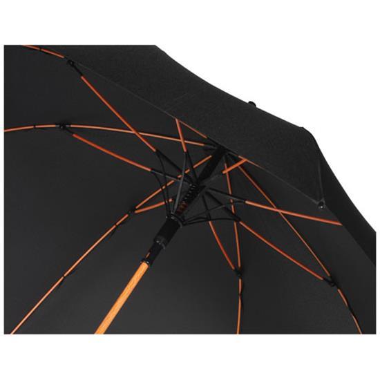 "23"" stormparaply Spark med tryck Svart/Orange"
