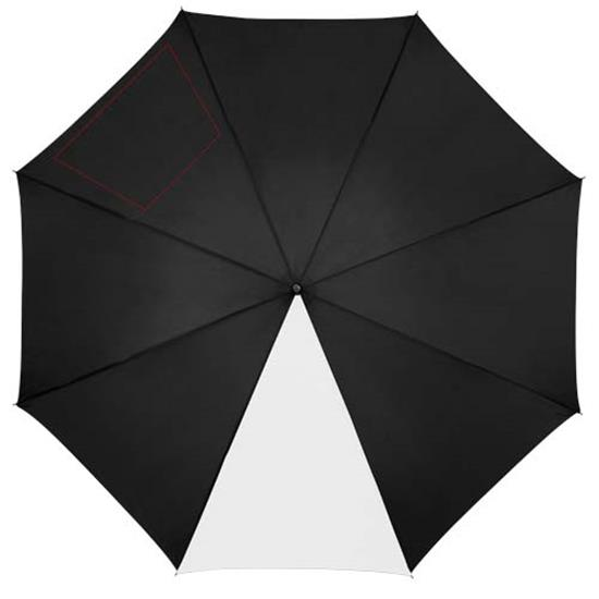 "23"" paraply Lucy  med tryck Vit/Svart"