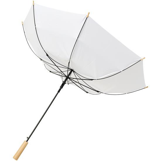 "23"" stormparaply Alina PET med tryck Vit"
