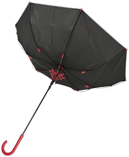 """23"""" reflekterande stormparaply Felice med tryck Röd"""