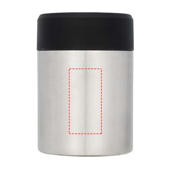 Vakuumisolerad mattermos i koppar med tryck Grå