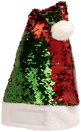 Tomteluva Sequins  med tryck Röd/Grön