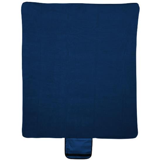 Filt Meadow med tryck Marinblå
