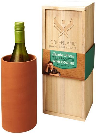 Terracotta vinkylare med tryck Orange