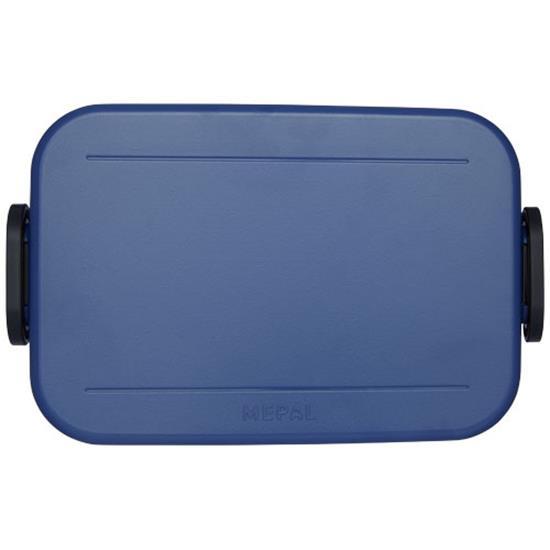 Matlåda Take-a-break med tryck Marinblå