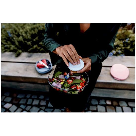 Sallads matlåda Ellips  med tryck Röd