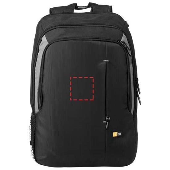 """17"""" Datorryggsäck med tryck Svart"""