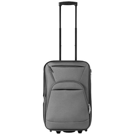 Expanderbar kabinväska med tryck Grå