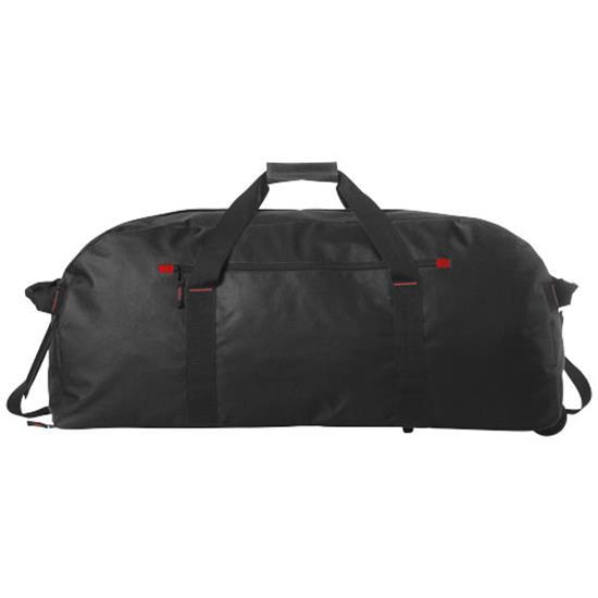 Vancouver resväska med tryck Svart
