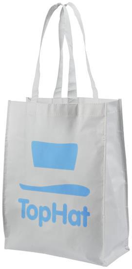 Shoppingkasse Conessa Non-Woven med tryck Vit
