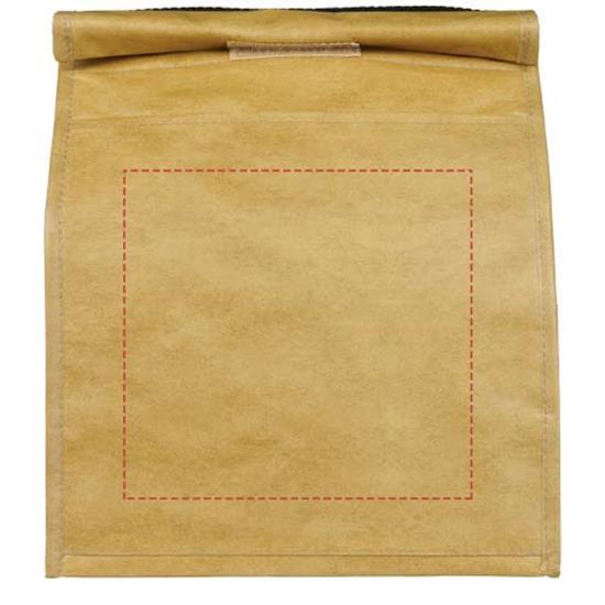 Kylväska Papyrus Stor i papperspåslook med tryck Brun