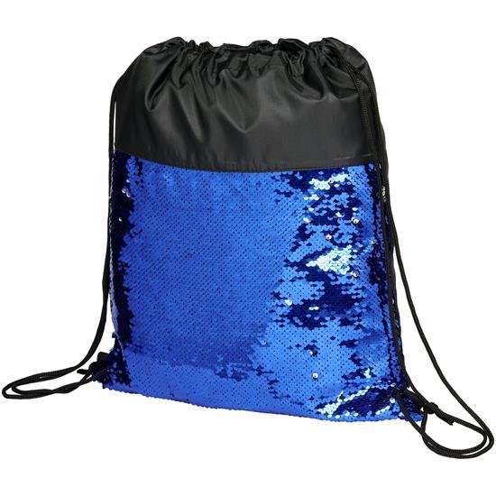 Gymnastikpåse Mermaid med tryck Svart/Blå